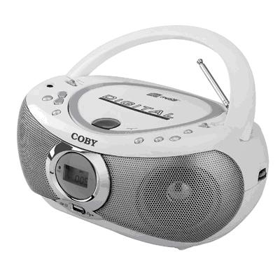 Picture of Recalled Coby-Brand USB/MP3/CD Boombox